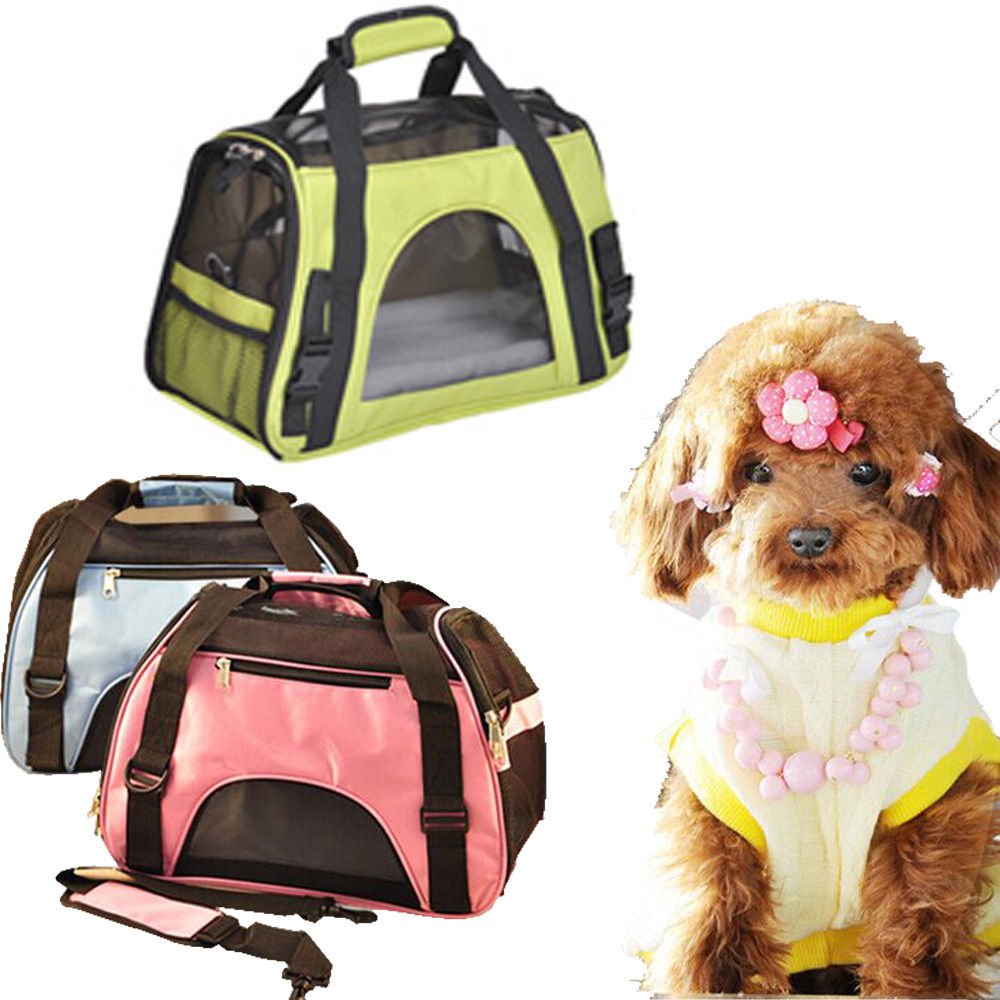 Zimtown Nylon & Mesh Pet Carrier Portable Breathable Kennel Crate Cage Waterproof Pet Handbag Size S M