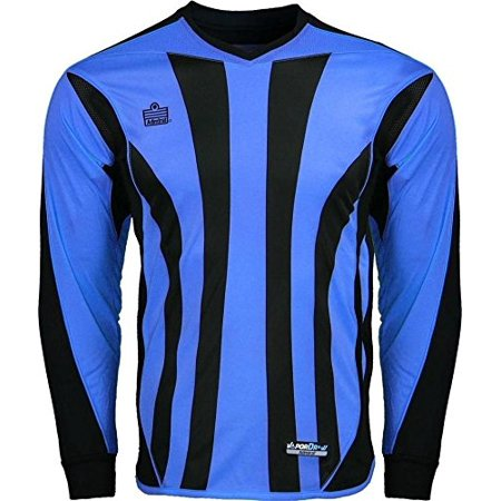 Admiral Clothes (New Bayern Padded Soccer Goalie Goal Shirt Italy Blue/ Black ADULT S-XL (Medium), Vertical striped sublimated design By Admiral)