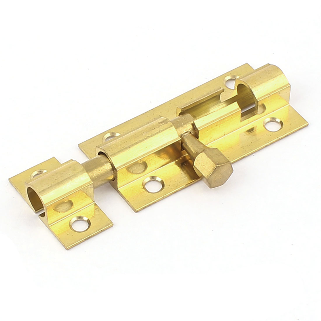 "2"" Length Brass Door Security Latch Sliding Lock  Bolt Gold Tone"