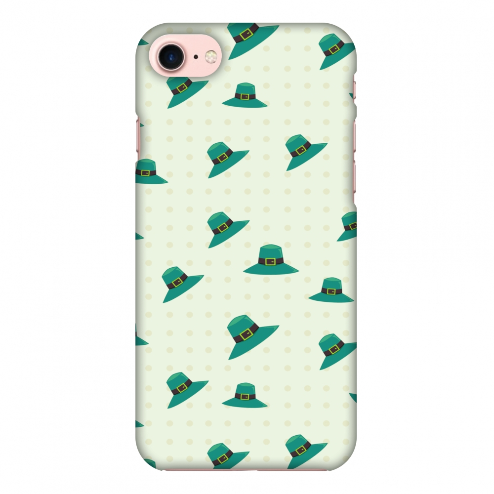 iPhone 8 Case, Premium Handcrafted Designer Hard Shell Snap On Case Printed Back Cover with Screen Cleaning Kit for iPhone 8, Slim, Protective - Irish Hats - Teal