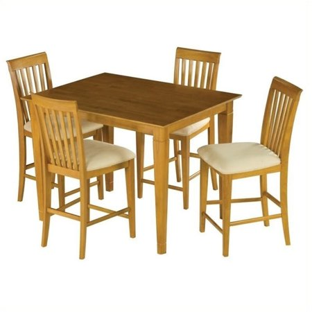 Leo Lacey Counter Height Pub Dining Table In Caramel