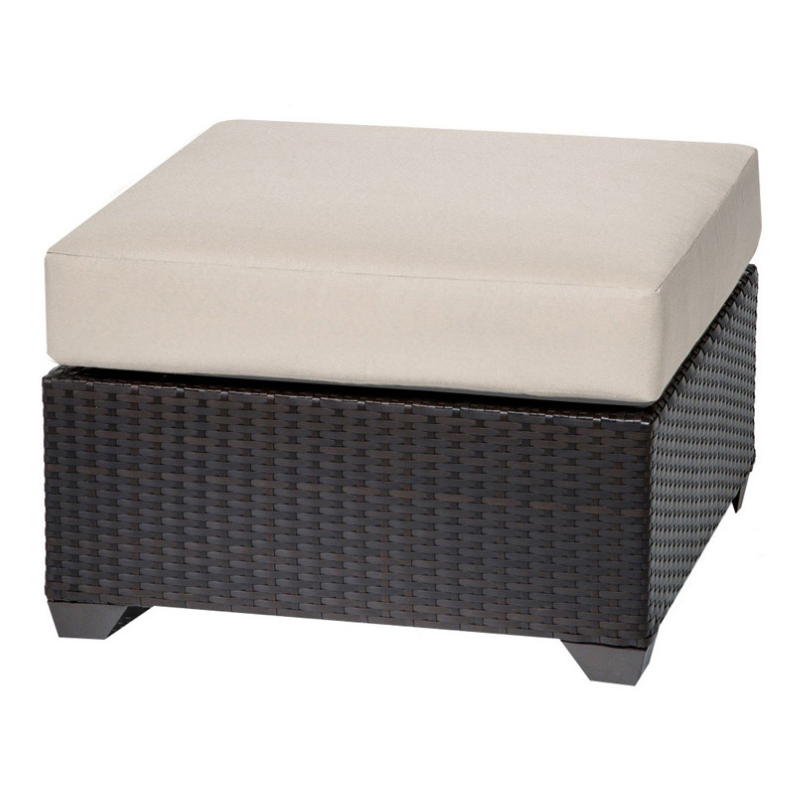 TK Classics Barbados Wicker Outdoor Ottoman - Set of 2 Cushion Covers