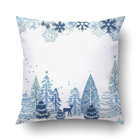 Bpbop Xmas Beautiful Blue Pattern With Winter Forest
