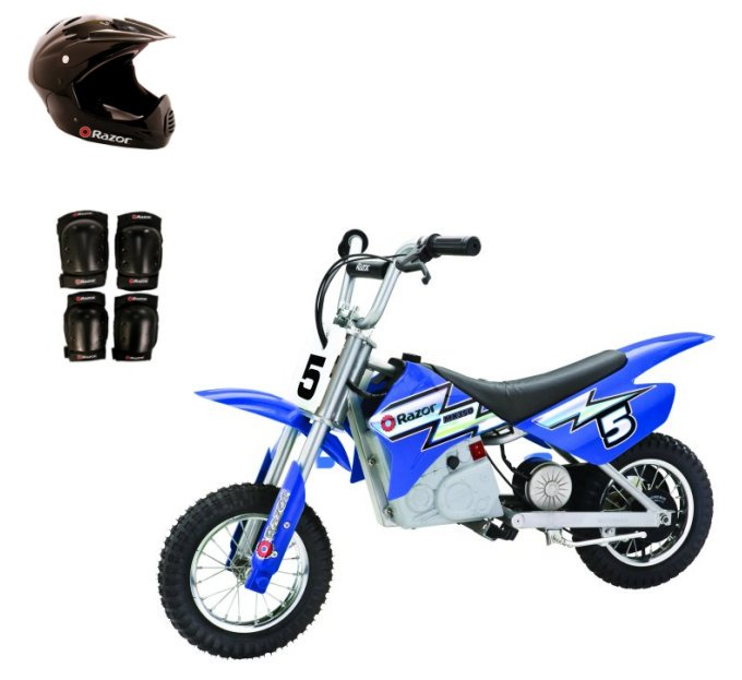 RAZOR 24V Dirt Rocket MX350 Electric Motorcycle with Helmet, Elbow & Knee Pads by Razor