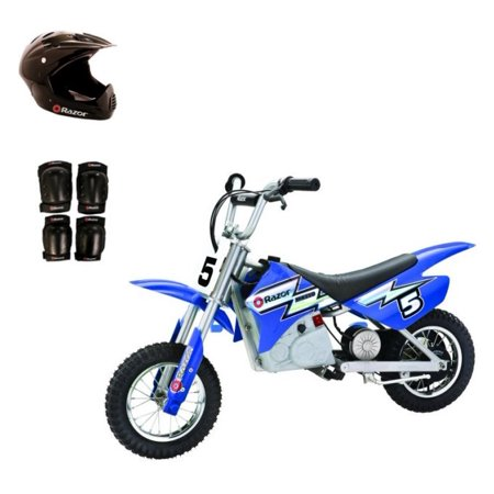 RAZOR 24V Dirt Rocket MX350 Electric Moto Bike with Helmet, Elbow & Knee