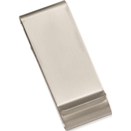 Kelly Waters Rhodium Plated Satin Double Fold Money Clip Designer Jewelry by Sweet Pea