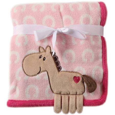 - Hudson Baby Boy and Girl Coral Fleece 3D Animal Blanket - Pink