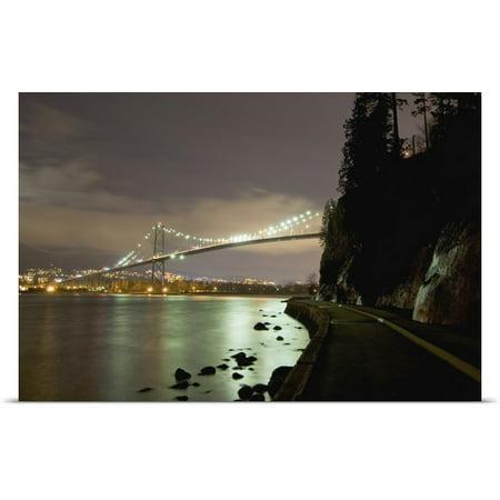 Great Big Canvas Paul Colangelo Poster Print Entitled Lions Gate Bridge  Stanley Park  British Columbia