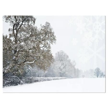 DESIGN ART Designart 'Christmas Winter Snow' Landscape Photo Metal Wall Art ()