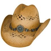 Bullhide Tequila Sunrise Tea Stained Raffia Straw Western Hat
