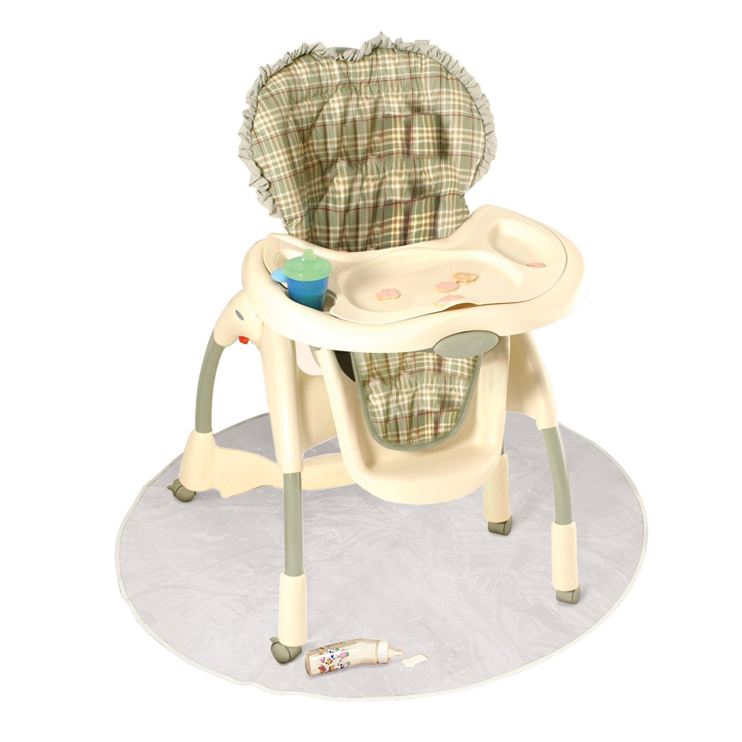 J Is For Baby High Chair Floor Protector Clear Plastic