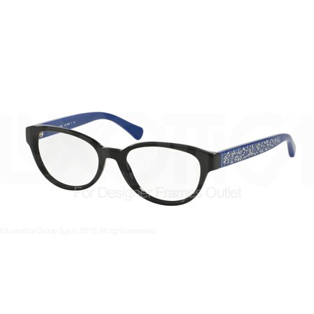 COACH Eyeglasses HC 6069 5282 Black/Blue (Coach Glasses On Sale)