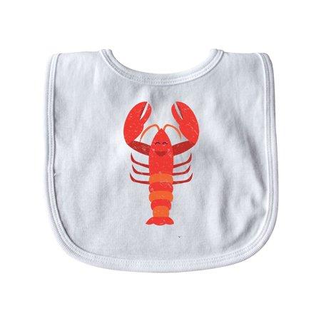 Lobster Distressed Ocean Creature Baby Bib - Lobster Baby