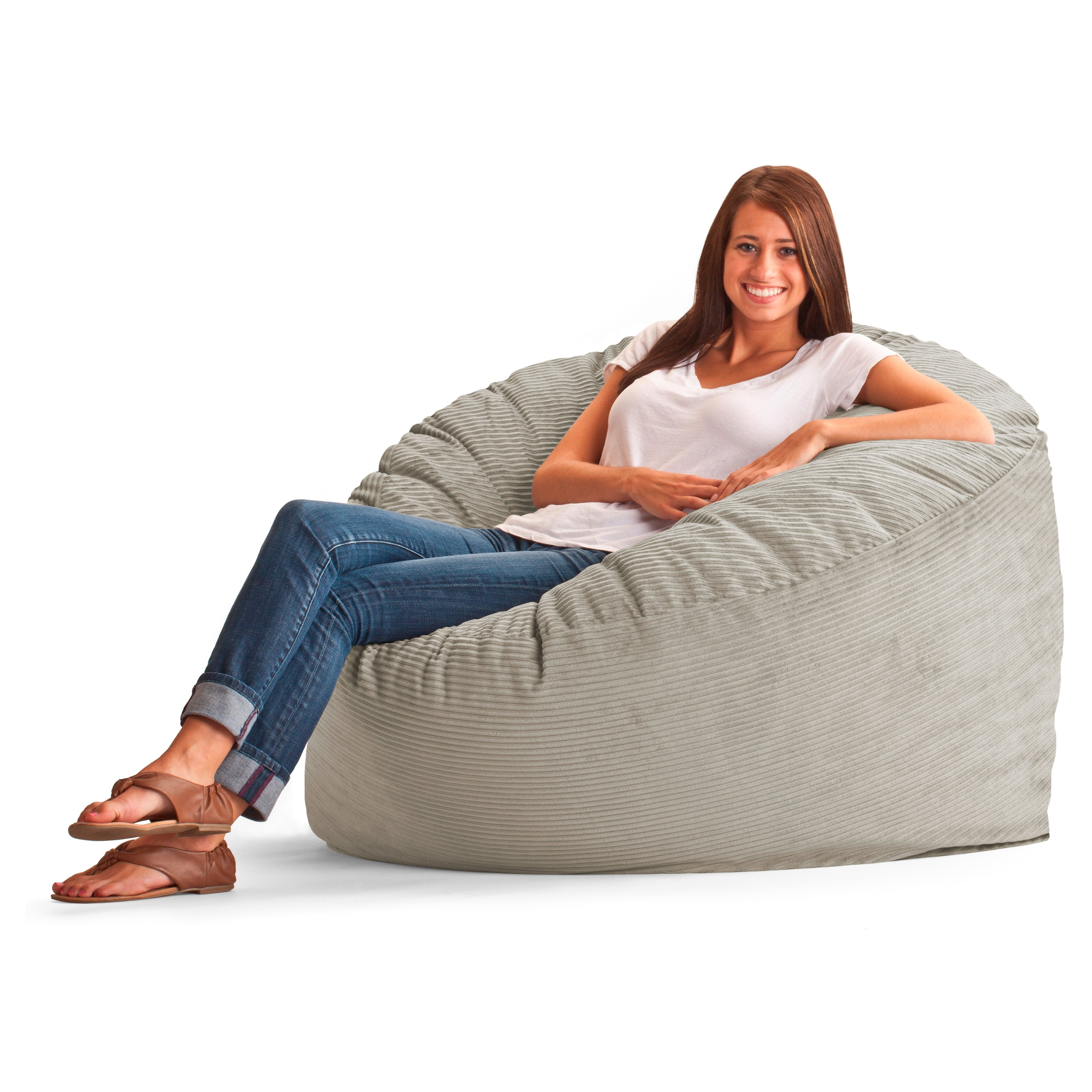 Original FUF Chair 4 Ft. Large Wide Wale Corduroy Bean Bag Lounger   Beach    Walmart.com