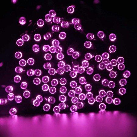 LUCKLED 2PACK Solar String Lights, 72ft 200 LED Fairy Decorative LED String Lights, Waterproof Outdoor String Lights (Warm White)