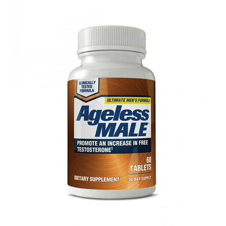 Ageless Male Free Testosterone Booster with Testofen, Capsules, 60