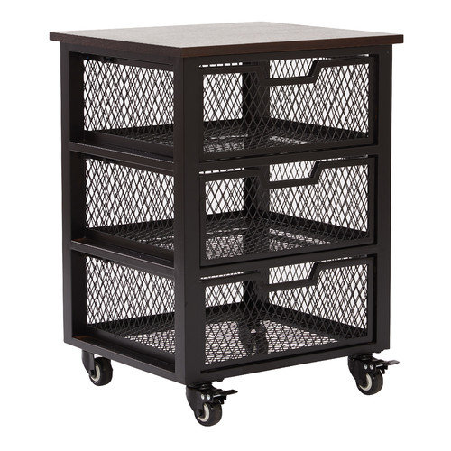 OSP Designs Garret 3 Drawer Rolling Cart