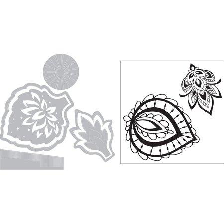 Sizzix Dtutera Framelits Die/Stamp Lace Flower - image 2 de 3