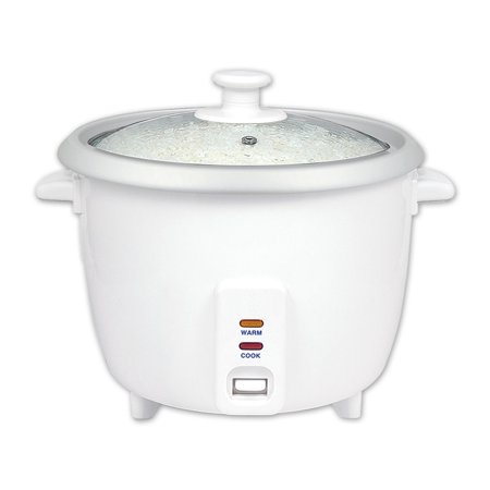 White Automatic Rice Cooker & Warmer - Electric 16 Cups Cooked Rice Cooker