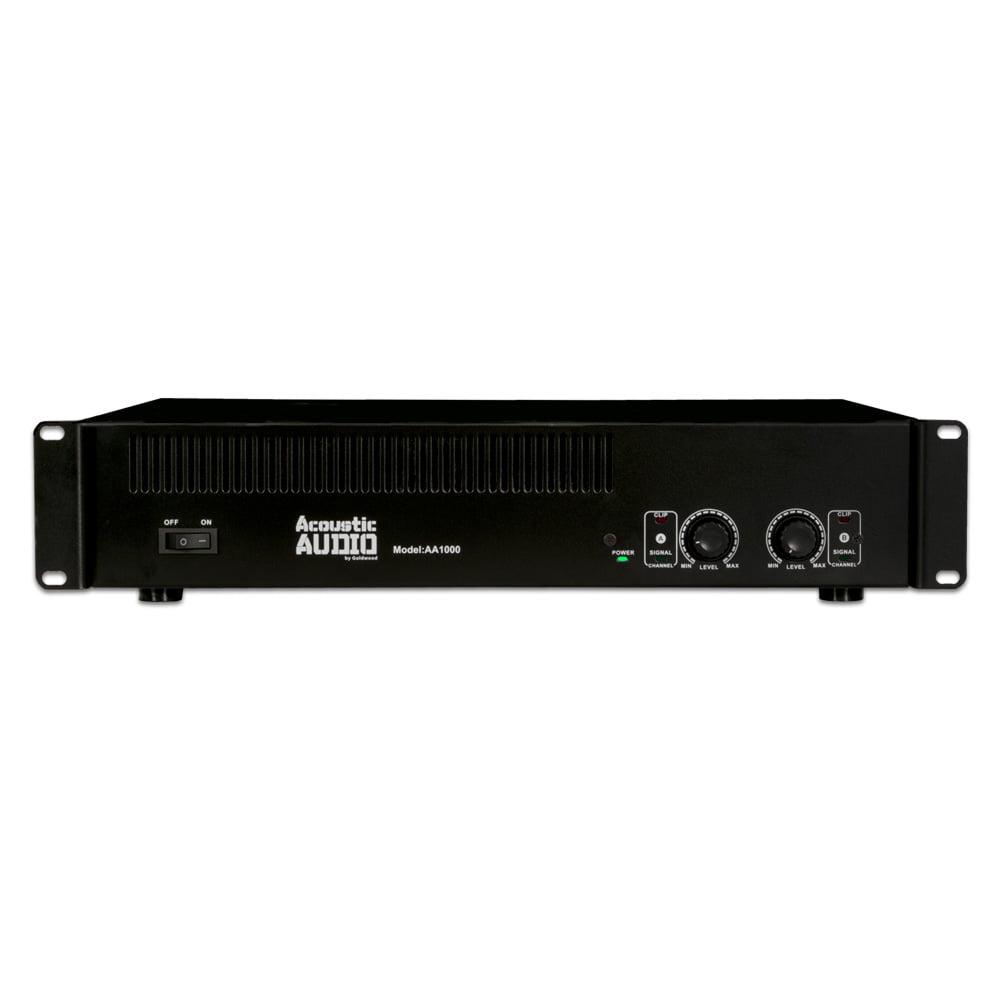 Image of Acoustic Audio AA1000 Amplifier 2 Channel 1000 Watt Power Amp for DJ Band PA Karaoke