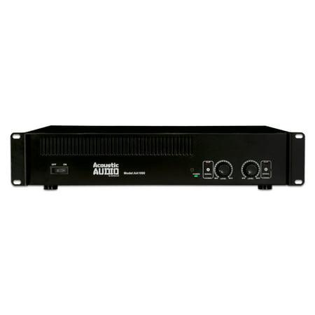 Acoustic Audio AA1000 Amplifier 2 Channel 1000 Watt Power Amp for DJ Band PA