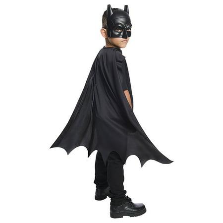 DC Comics Batman Cape & Mask Child Costume Set - Batman Mask Costume