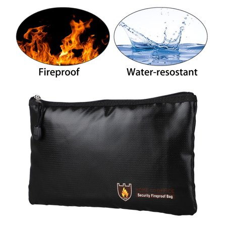 Fireproof Document Bag (17cmx27cm) ,TSV Silicone Coated Fiberglass - Fireproof Water Resistant Money Cash Envelope Safe Document Bag File Pouch Case](Money Pouches)