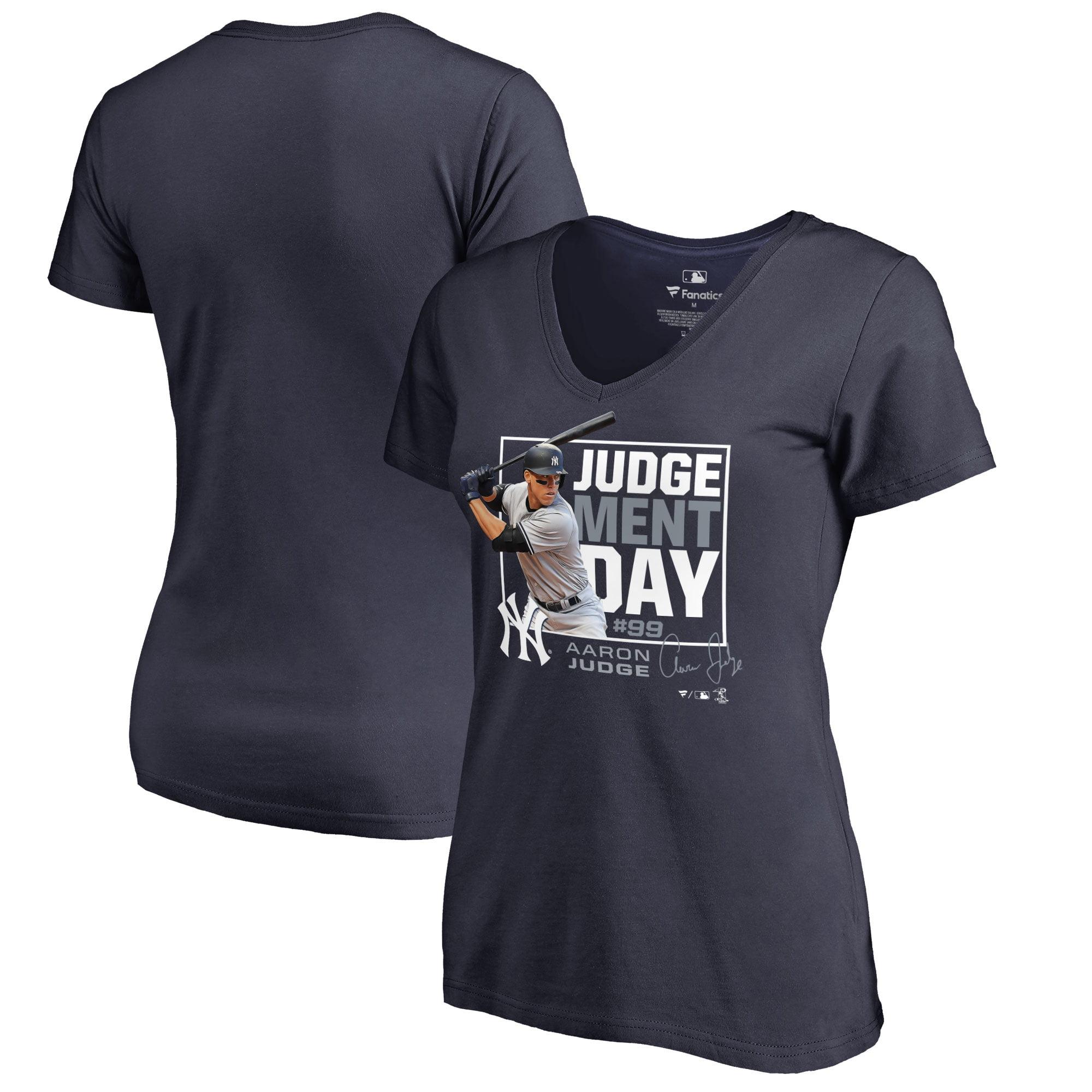 Aaron Judge New York Yankees Fanatics Branded Women s Judgement Day V-Neck  T-Shirt - Navy - Walmart.com 9ab4402c976