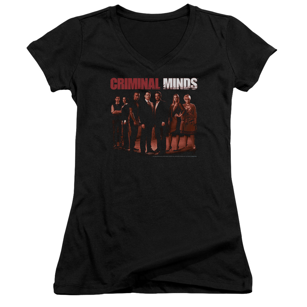 Criminal Minds The Crew Juniors V-Neck Shirt