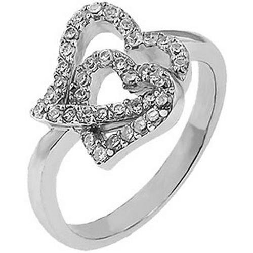 Doma Jewellery SSRZ321-S7 Sterling Silver Ring With Cubic Zirconia, Size 7