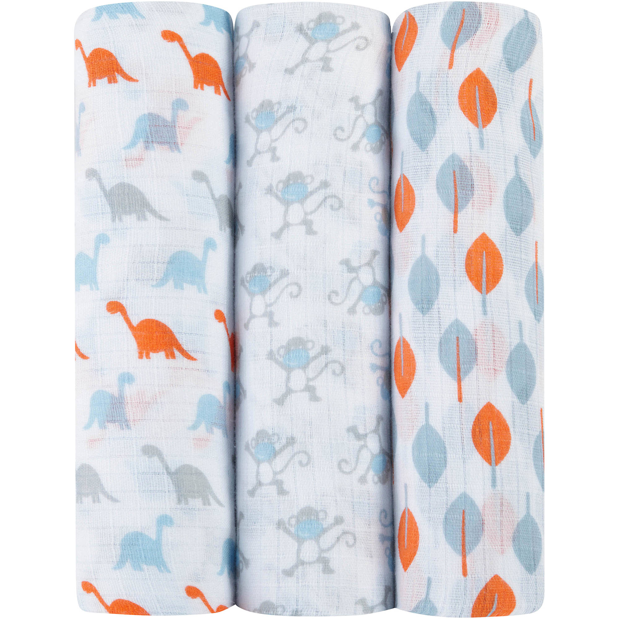 ideal baby by the makers of aden   anais Muslin Swaddles, 3pk, Cheeky Monkey