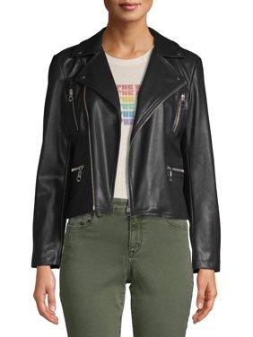 Scoop Vegan Leather Biker Jacket Women's