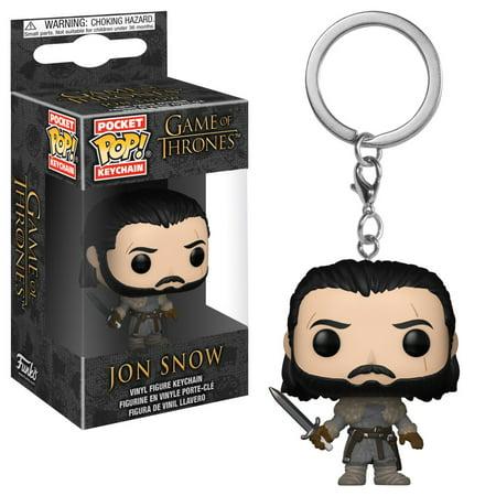 Funko Pop! Keychain: Game of Thrones S8 - Jon Snow (Beyond the Wall) (Game Of Thrones Jon Snow Costume)