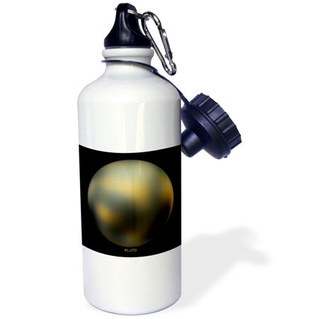 3dRose Solar System - Pluto (Former Planet), Sports Water Bottle, 21oz