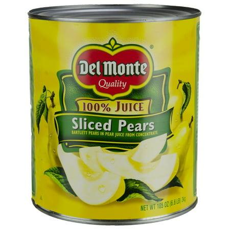 Del Monte 2002203 Sliced Pears In Juice Delmonte 6/105oz Cans