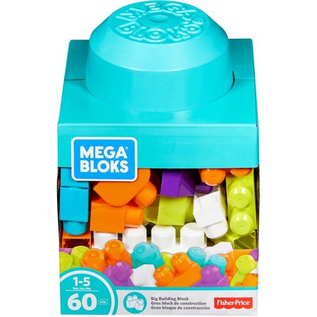 Mega Bloks Big Building Blocks Basics 60-Piece Colorful Set for $<!---->