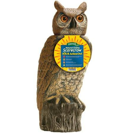Dalen Gardeneer Solar Rotating Head Owl