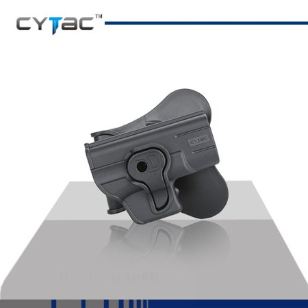 CYTAC GLOCK Paddle Holster with Trigger Release 360 degree Adjustable Cant, Polymer Holster Injection Molded for GLOCK 43 OWB Carry, RH | 7 attachment