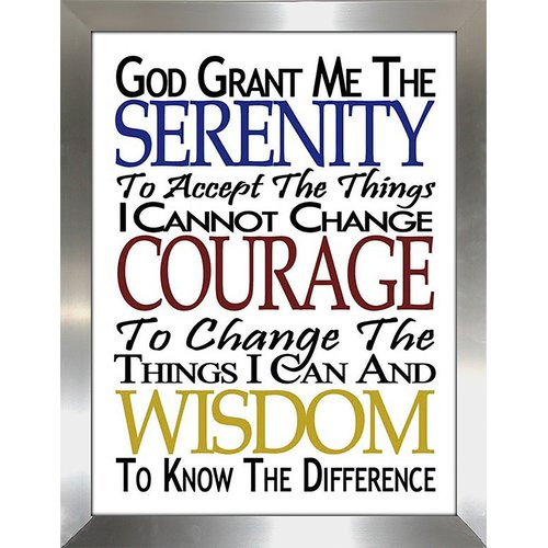 Picture Perfect International ''Serenity Prayer'' Framed Textual Art