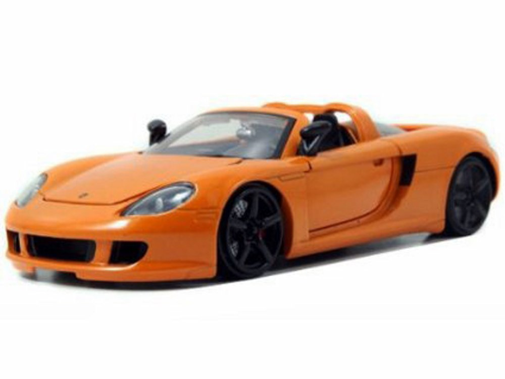 Porsche Carrera GT convertible, Orange Jada Toys 96955 1 24 scale Diecast Model Toy Car by Jada