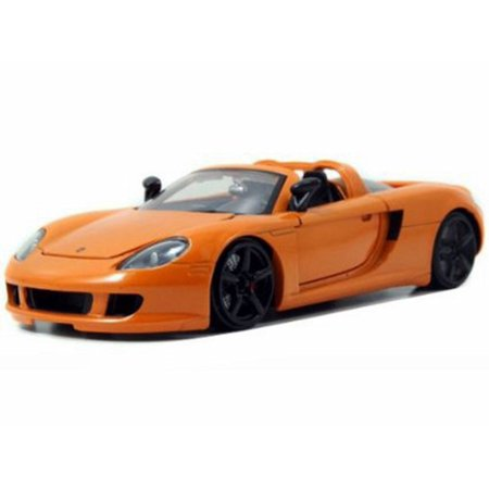 Porsche Carrera GT convertible, Orange - Jada Toys 96955 - 1/24 scale Diecast Model Toy