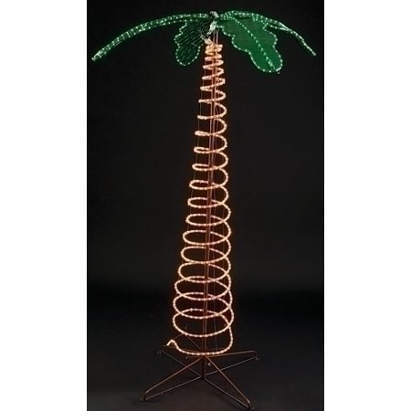 7' Deluxe Tropical Lighted Holographic Rope Light Outdoor Palm Tree Decoration thumbnail
