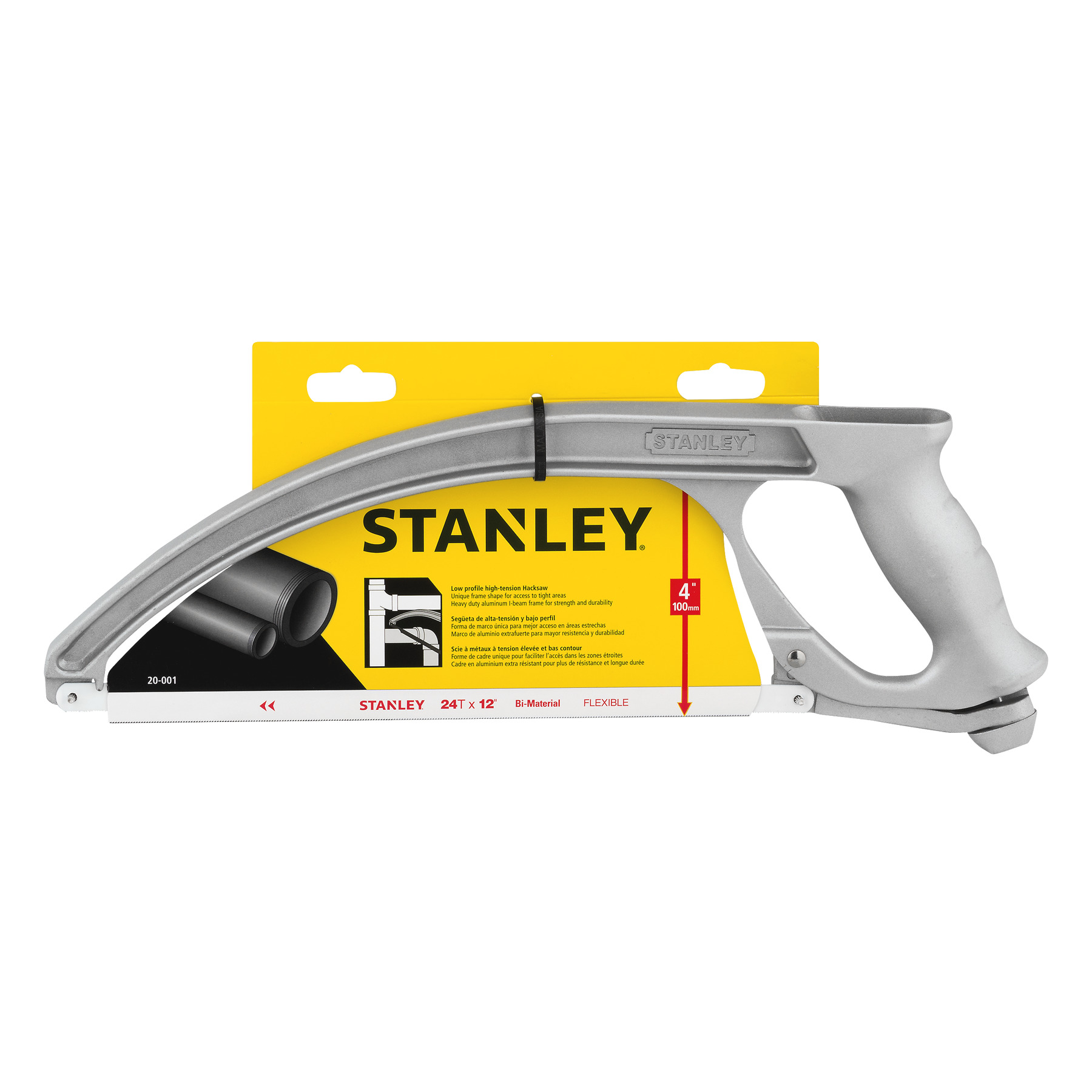 STANLEY 20-001K Low Profile High - Tension Hacksaw