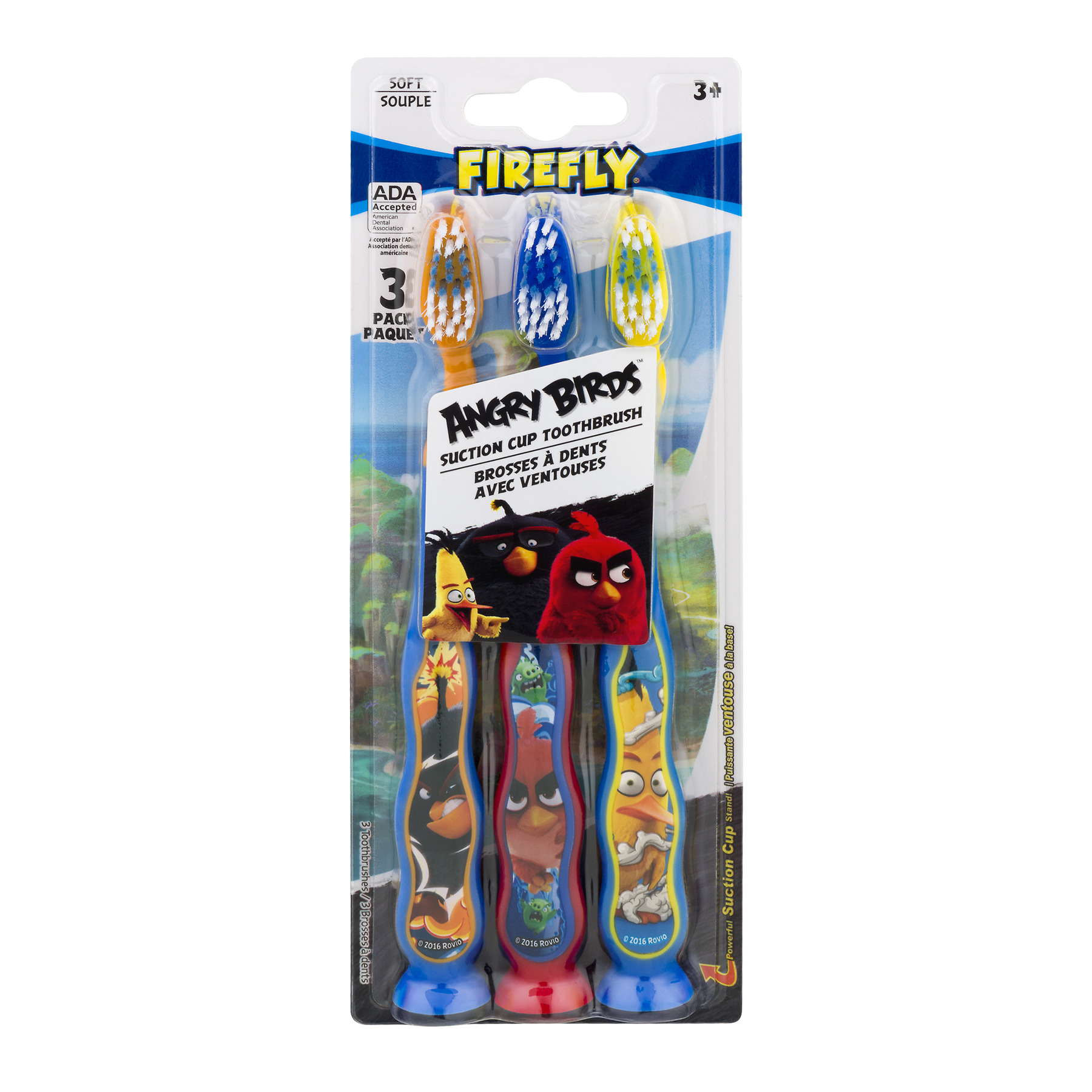 Angry Birds Toothbrushes Firefly Soft, 3.0 PACK