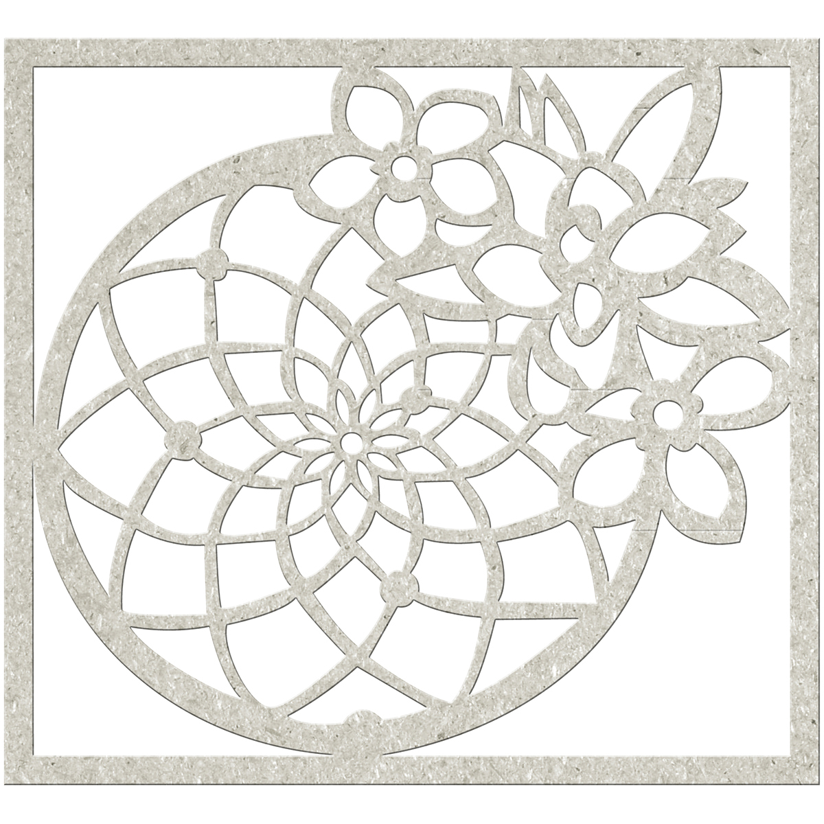 "FabScraps Serenity Die-Cut Gray Chipboard Shape-Dream Catcher 4""X3.5"" Fits MC77001"