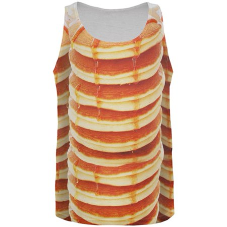Halloween Breakfast Ideas (Halloween Pancakes and Syrup Breakfast Costume All Over Mens Tank)