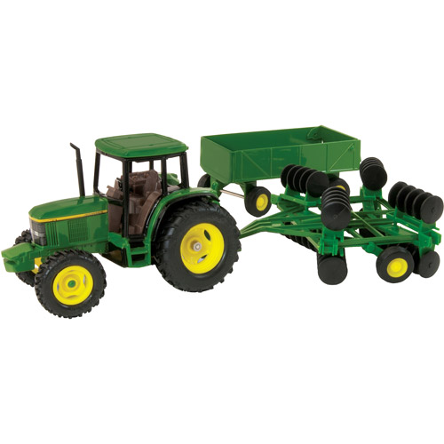 John Deere 1:32 Scale 6410 Tractor with Barge Wagon and W...