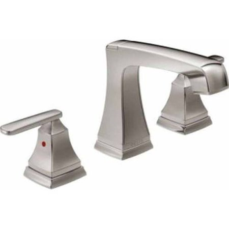 Delta Ashlyn Deck Mounted Widespread Lavatory Faucet with Metal Lever Handles and Metal Pop-Up, Available in Various Colors