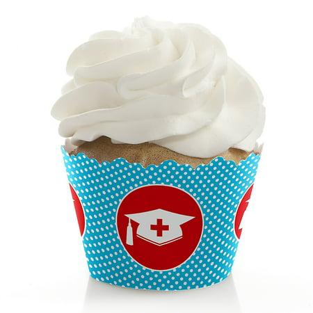 Nurse Graduation - Medical Nursing Graduation Party Cupcake Wrappers - Set of 12