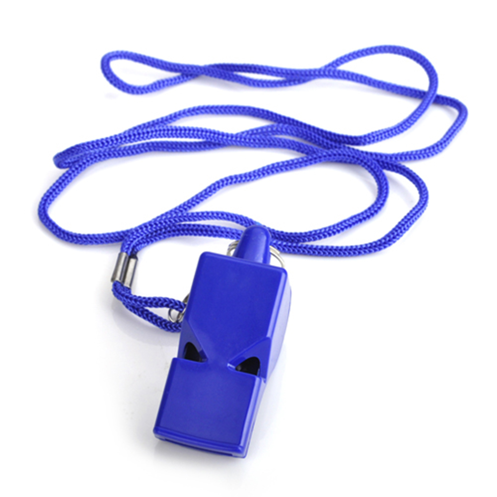 GOGO Bulk Whistle With Lanyard Sport Coach Whistle Safety Emergency Survival Whistle For Wholesale-Red Pea-1 Pc